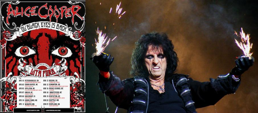 Alice Cooper at Northern Alberta Jubilee Auditorium